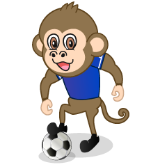 Monkey Playing Soccer