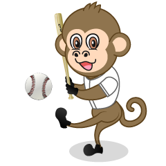 Baseball Monkey Cartoon