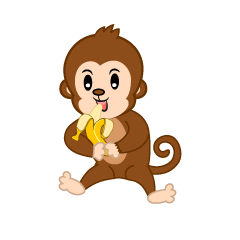 Eating Monkey Cartoon