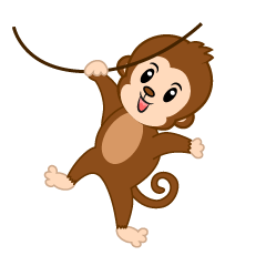Hanging Cute Monkey