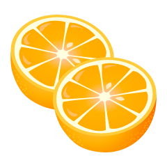 Cut Oranges Clipart