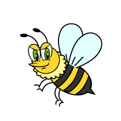 Cool Bee Cartoon