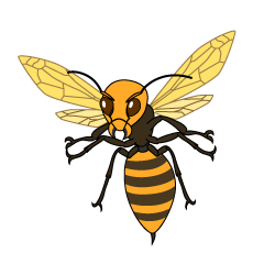 Flying Wasp Clipart