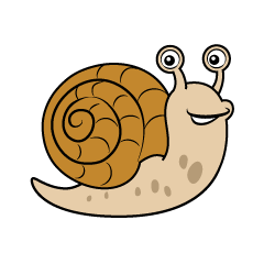 Brown Snail Clipart