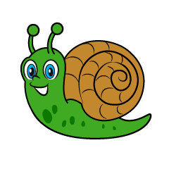 Green Snail Cartoon