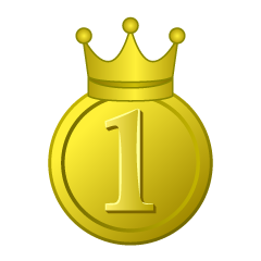 Gold Crown Medal in 1st Place