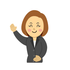 Businesswoman Raising Hand Clipart