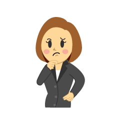 Thinking Businesswoman Clipart