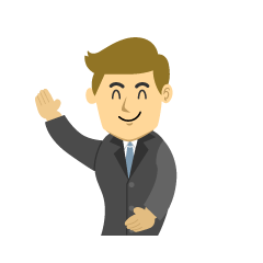 Businessman Raising Hand Clipart