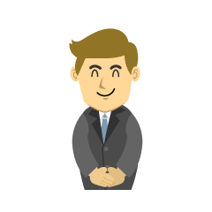 Smiling Businessman Clipart