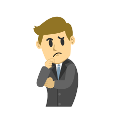 Thinking Businessman Clipart