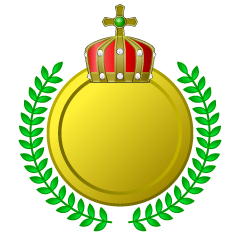 Crown and Leaf Gold Medal