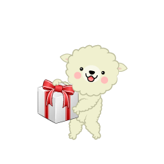 Sheep Give Box Clipart