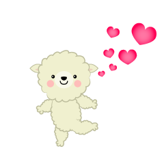 Loving Sheep Clipart