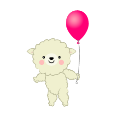 Sheep with Balloon Clipart