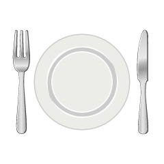 Dish, Knife and Fork Clipart