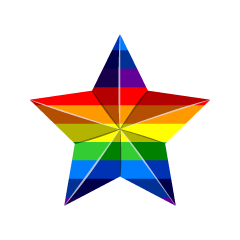 Rainbow Star Decoration Clipart