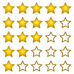 5-Star Rating Clipart