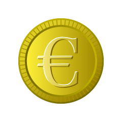 Euro Gold Coin Clipart