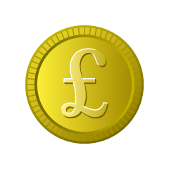 Pound Gold Coin Clipart