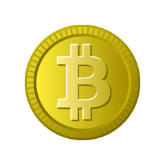 Bitcoin Gold Coin Clipart