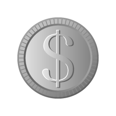 Dollar Silver Coin Clipart