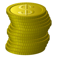 Stacked Dollar Coins Clipart