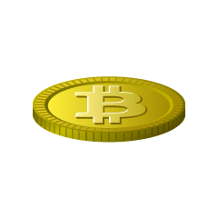 Single Gold Bitcoin Clipart