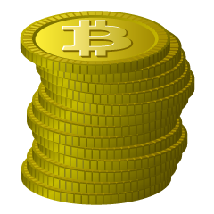 Stacked Bitcoin Clipart