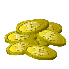 Many Bitcoin Clipart