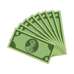 Many Dollar Bills Clipart