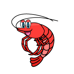 Vivid Shrimp Cartoon
