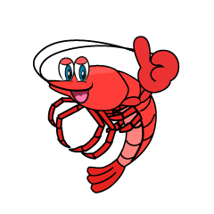 Thumbs up Shrimp Cartoon