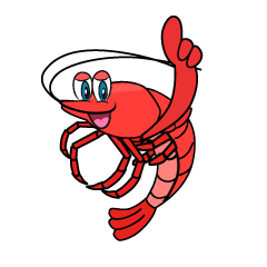 Pointing Shrimp Cartoon