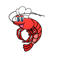 Cook's Shrimp Cartoon