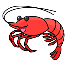 Smiling Shrimp Clipart