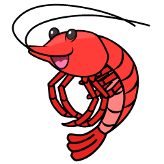 Energetic Shrimp Clipart