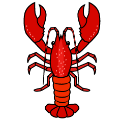 Lobster from Above Clipart