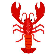 Simple Lobster Clipart