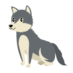 Sitting Wolf Clipart