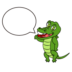 Speaking Crocodile Cartoon