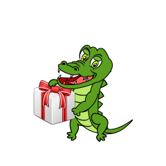Celebrate Crocodile Cartoon