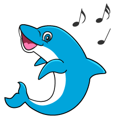 Dancing Dolphin Cartoon