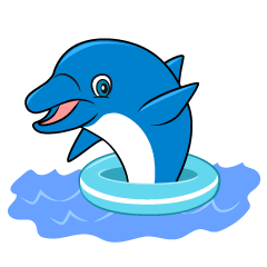 Greeting Dolphin Cartoon