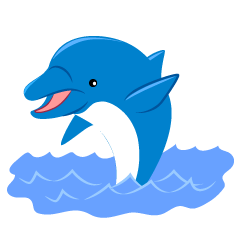 Dolphin Jumping Out Clipart