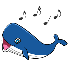 Singing Whale Cartoon