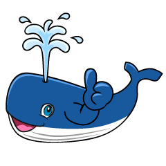 Thumbs up Whale Cartoon