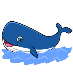 Swimming Whale Cartoon