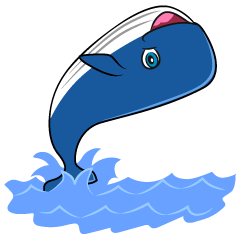 Jumping Whale Cartoon