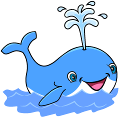 Smiling Whale Cartoon